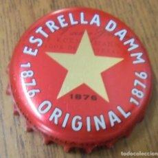 Coleccionismo de cervezas: CHAPA CERVEZA ESTRELLA DAMM ORIGINAL 1876 -SPAIN- FABRICANTE -HB-. Lote 142799172