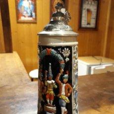Coleccionismo de cervezas: AUTENTICA JARRA DE CERVEZA ALEMANA. Lote 136418694