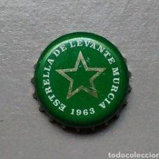 Coleccionismo de cervezas: CHAPA CERVEZA ESTRELLA DE LEVANTE MURCIA. Lote 136825536
