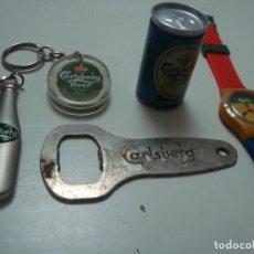 Coleccionismo de cervezas: COLECCION ARTICULOS CERVEZA CARLSBERG. Lote 137232114