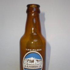Coleccionismo de cervezas: BOTELLA CERVEZA *LA ALHAMBRA S.A.* 20 CL. TIPO-PILSEN, GRANADA, SERIGRAFIADA . Lote 139114478