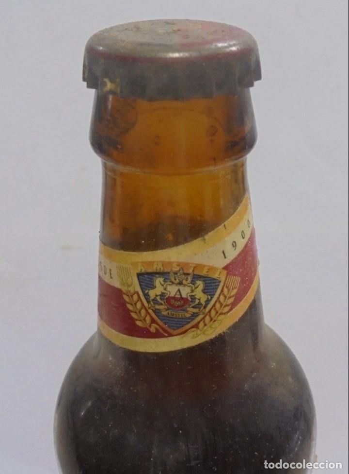 Coleccionismo de cervezas: CERVEZA. AGUILA. EJEMPLAR UNICO Y ENUMERADO. PRIMERAS BOTELLAS. Nº 036861. EN PIE DE MADERA. VER - Foto 4 - 150956666