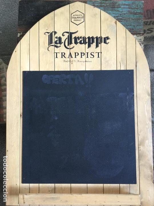 Coleccionismo de cervezas: Gran cartel pizarra de madera cerveza LA TRAPPE - Foto 6 - 139299874