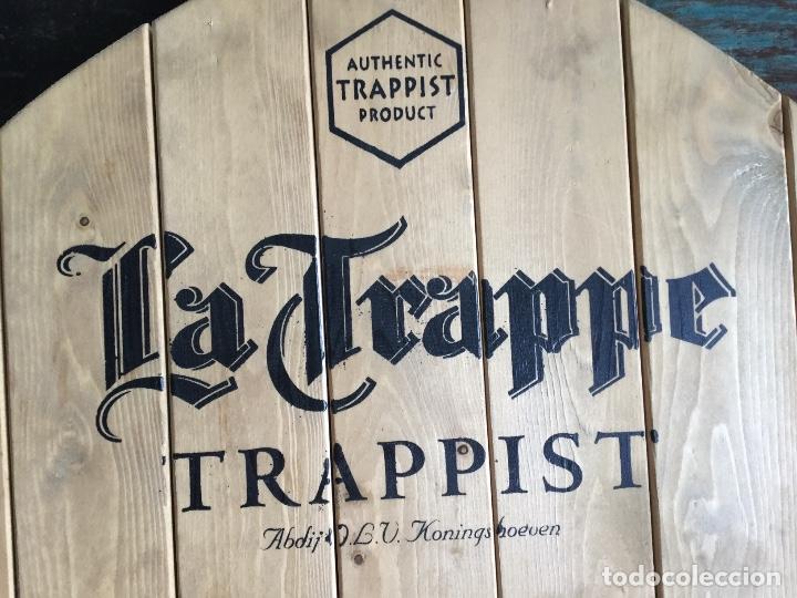 Coleccionismo de cervezas: Gran cartel pizarra de madera cerveza LA TRAPPE - Foto 8 - 139299874