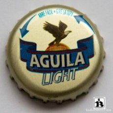 Coleccionismo de cervezas: TAPÓN CORONA - CHAPA - COLOMBIA - CERVEZA ÁGUILA LIGHT - ABRE FÁCIL - GIRE LA TAPA. Lote 140337806