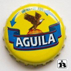 Coleccionismo de cervezas: TAPÓN CORONA - CHAPA - COLOMBIA - CERVEZA ÁGUILA - ABRE FÁCIL - GIRE LA TAPA. Lote 140337918