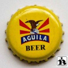 Coleccionismo de cervezas: TAPÓN CORONA - CHAPA - COLOMBIA - CERVEZA ÁGUILA - ABRE FÁCIL - GIRE LA TAPA - AÑO 2007. Lote 140337990