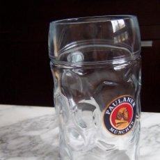 Coleccionismo de cervezas: JARRA DE UN LITRO CERVEZA PAULANER.. Lote 140387198