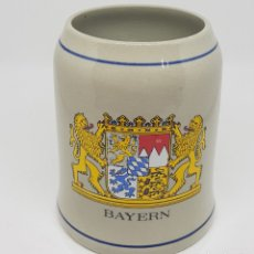 Coleccionismo de cervezas: JARRA DE CERVEZA CERAMICA - BAYERN - CAR128. Lote 140571170