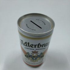 Coleccionismo de cervezas: LATA HUCHA ADLERBRAU CERVEZA ESPECIAL. S.A. EL AGUILA. SIN CONTENIDO. CAR130. Lote 141331050