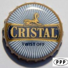 Coleccionismo de cervezas: TAPÓN CORONA - CHAPA - PERÚ - CERVEZA - CRISTAL - TAPÓN DE GIRAR - GUSTA. Lote 141482674