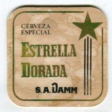 Coleccionismo de cervezas: POSAVASOS ESTRELLA DORADA DAMM CERVEZA ESPECIAL CARTON DURO. Lote 141764238