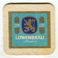 Coleccionismo de cervezas: POSAVASOS LÖWENBRÄU CERVEZA CARTON DURO VER DOS CARAS (2). Lote 141777802