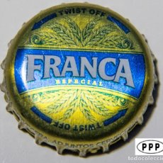 Coleccionismo de cervezas: TAPÓN CORONA - CHAPA - PERÚ - CERVEZA - FRANCA ESPECIAL - TAPÓN DE GIRAR. Lote 141964822