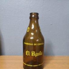 Coleccionismo de cervezas: RARA BOTELLA CERVEZA TERCIO 33CL EL AGUILA ESPECIAL DECLARADA EMPRESA MODELO POR EL ESTADO. BOTELLIN. Lote 150975348