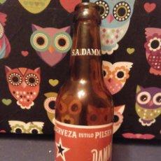 Coleccionismo de cervezas: ANTIGUA Y DIFICIL BOTELLA CERVEZA 1/3 SOCIEDAD ANONIMA DAMM BARCELONA SIN ROSELLONA AÑO 1968. Lote 142787910