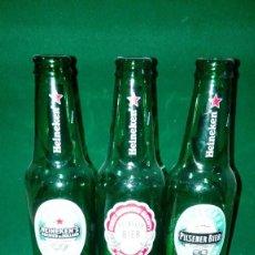 Coleccionismo de cervezas: LOTE BOTELLAS HEINEKEN ED LIMITADA. Lote 142836430