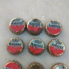Coleccionismo de cervezas: CHAPA CERVEZA AGUILA AMSTEL LOTE DE 9. Lote 142947980
