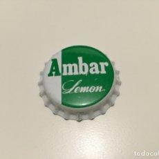Coleccionismo de cervezas: TAPON CORONA CHAPA CERVEZA ZARAGOZANA AMBAR LEMON SIN USAR ... ZKR. Lote 143224334
