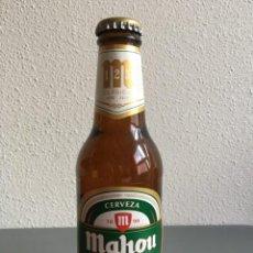 Coleccionismo de cervezas: BOTELLIN MAHOU 125 AÑOS SIN ABRIR. Lote 143226454