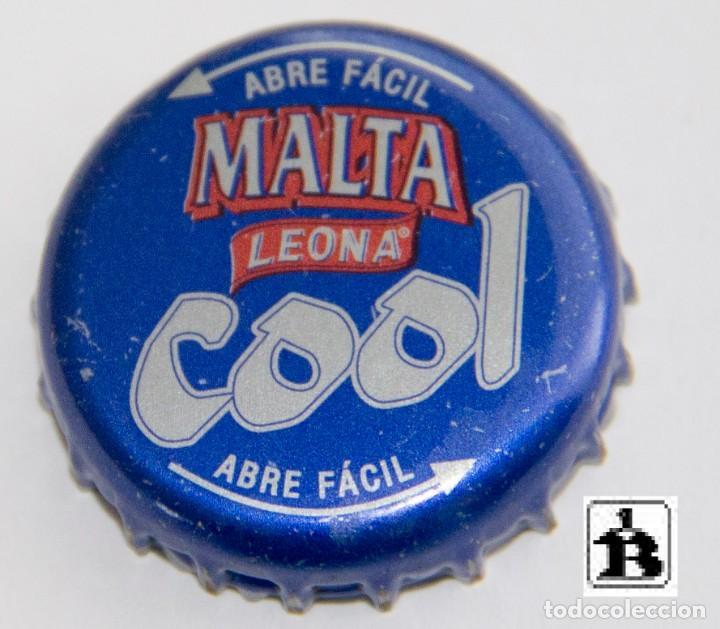 TAPÓN CORONA - CHAPA - COLOMBIA - CERVEZA - LEONA MALTA COOL - TAPÓN DE GIRAR - AÑO 2004 (Coleccionismo - Botellas y Bebidas - Cerveza )