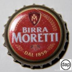 Coleccionismo de cervezas: TAPÓN CORONA - CHAPA - ITALIA - CERVEZA - MORETTI DAL 1859 - INTERIOR COLOR VERDE. Lote 143660458