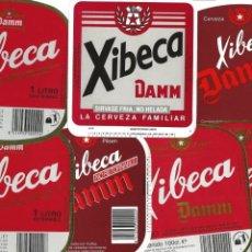 Coleccionismo de cervezas: LOTE ETIQUETAS XIBECA. Lote 145146210
