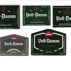 Coleccionismo de cervezas: LOTE ETIQUETAS VOLL Y BOCK DAMM. Lote 145148282