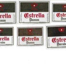Coleccionismo de cervezas: LOTE ETIQUETAS DAMM. Lote 145148582