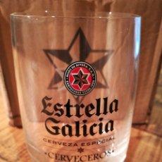 Coleccionismo de cervezas: VASO ESTRELLA DE GALICIA*CERVECEROS*. Lote 145665693