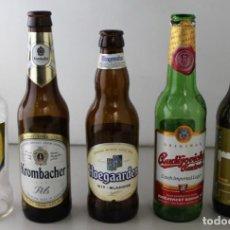 Coleccionismo de cervezas: LOTE DE 5 BOTELLAS DE CERVEZA. ESTÁN VACÍAS. Lote 145776150