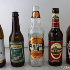 Coleccionismo de cervezas: LOTE DE 5 BOTELLAS DE CERVEZA. ESTÁN VACÍAS. Lote 145776198