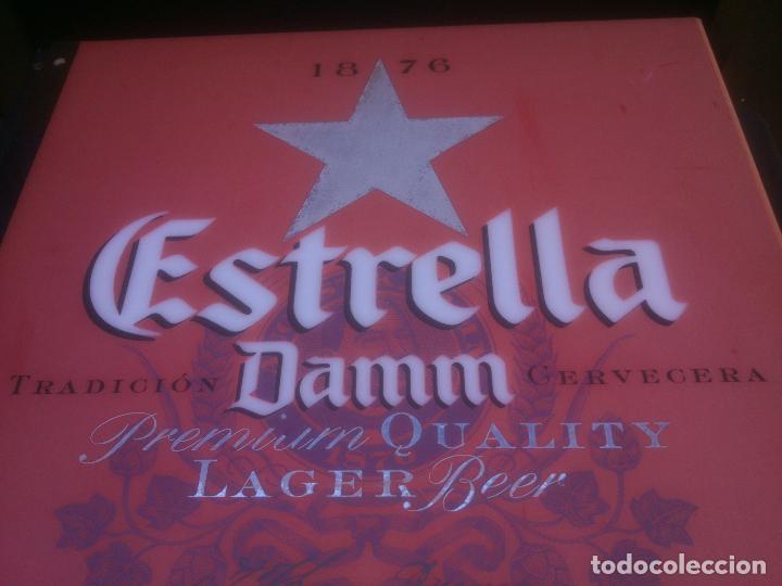 Coleccionismo de cervezas: CARTEL LUMINOSO ESTRELLA DAMM - Foto 2 - 146044562