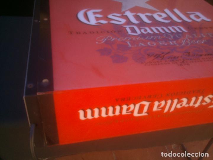Coleccionismo de cervezas: CARTEL LUMINOSO ESTRELLA DAMM - Foto 4 - 146044562