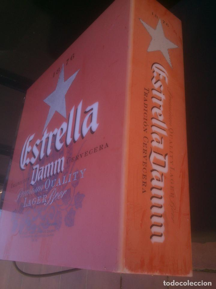 Coleccionismo de cervezas: CARTEL LUMINOSO ESTRELLA DAMM - Foto 5 - 146044562