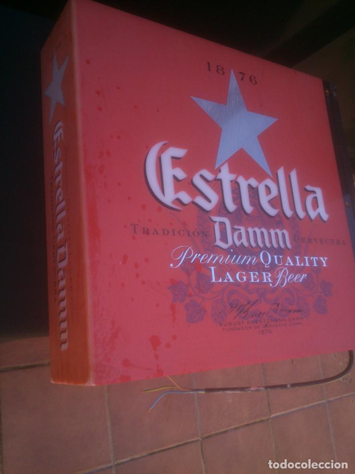Coleccionismo de cervezas: CARTEL LUMINOSO ESTRELLA DAMM - Foto 9 - 146044562