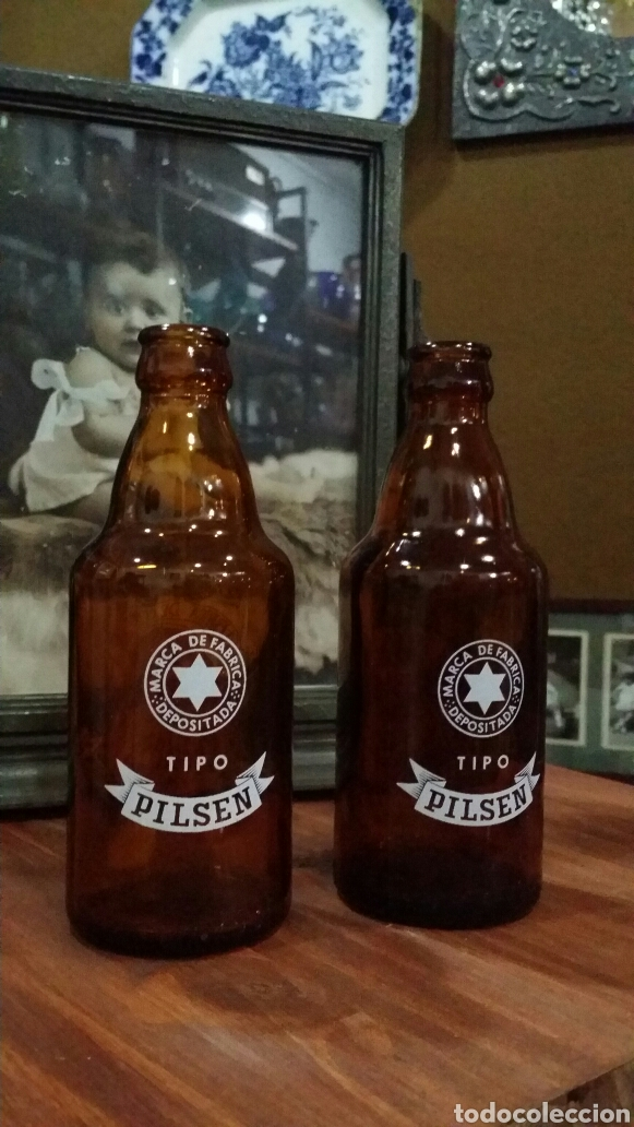 Coleccionismo de cervezas: Antiguas botellas cerveza La estrella de Galicia - Foto 3 - 146451576