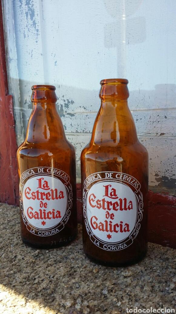 ANTIGUAS BOTELLAS CERVEZA LA ESTRELLA DE GALICIA (Coleccionismo - Botellas y Bebidas - Cerveza )