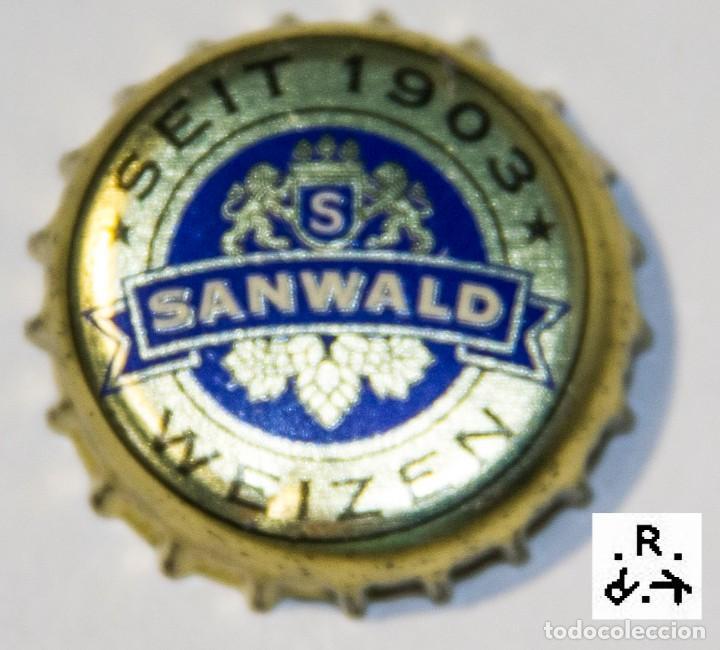 TAPÓN CORONA - CHAPA - ALEMANIA - CERVEZA - SANWALD WIEZEN (Coleccionismo - Botellas y Bebidas - Cerveza )