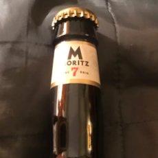 Coleccionismo de cervezas: BOTELLA CERVEZA MORITZ 7 BARCELONA LLENA Y NUEVA CORONA. Lote 146741370