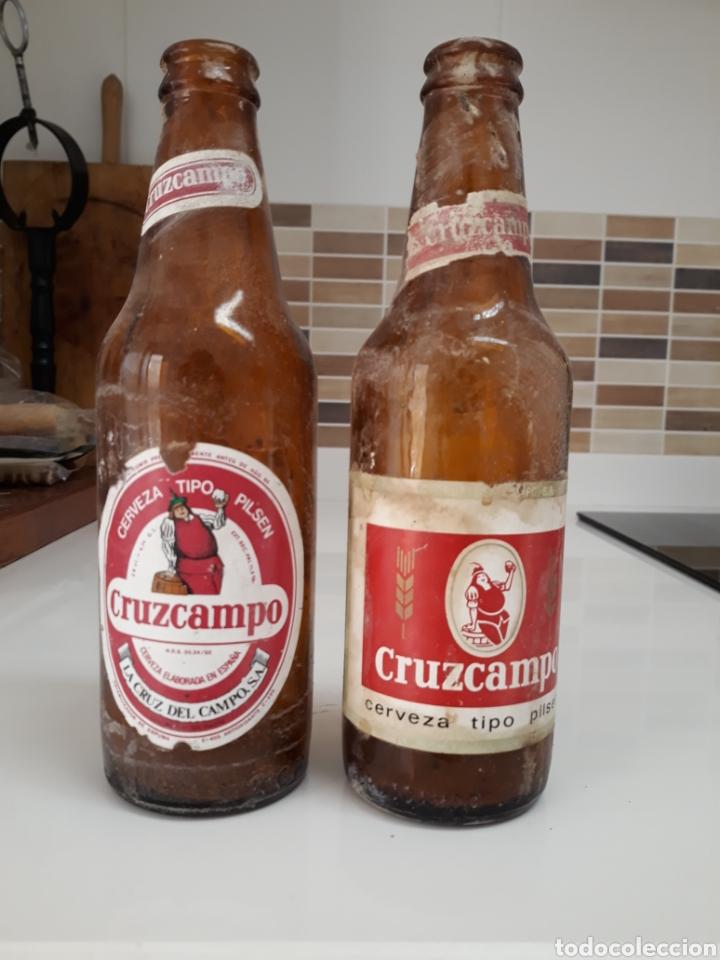 BOTELLA CERVEZA CRUZCAMPO ETIQUETA (Coleccionismo - Botellas y Bebidas - Cerveza )
