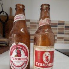 Coleccionismo de cervezas: BOTELLA CERVEZA CRUZCAMPO ETIQUETA. Lote 147560098