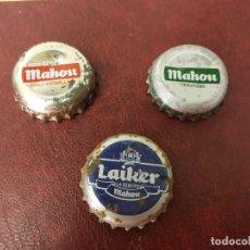 Coleccionismo de cervezas: 3 CHAPAS DE CERVEZA MAHOU Y LAIKER.. Lote 147659254