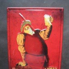 Coleccionismo de cervezas: CARTEL CHAPA CERVEZAS LA CRUZ DEL CAMPO SEVILLA. Lote 147749234