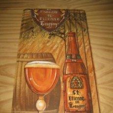 Coleccionismo de cervezas: CARTEL CHAPA CERVEZAS DE L'ABBAYE ST - ETIENNE DE GEOFFROY. Lote 147751342