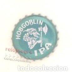 Coleccionismo de cervezas: CHAPA DE CERVEZA HOBGOBLIN - IPA - BRITÁNICA REINO UNIDO - DIBUJO DE DUENDE CON HACHA. Lote 147848634