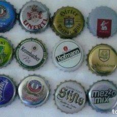 Coleccionismo de cervezas: 12 CHAPAS DE BEBIDAS USADAS LOTE 13. Lote 148007514