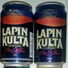 Coleccionismo de cervezas: LOTE DE LATAS DE CERVEZA LAPIN KULTA. Lote 148068522