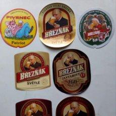Coleccionismo de cervezas: 7 ETIQUETAS CERVEZA DA REPÚBLICA CHECA. Lote 148192626