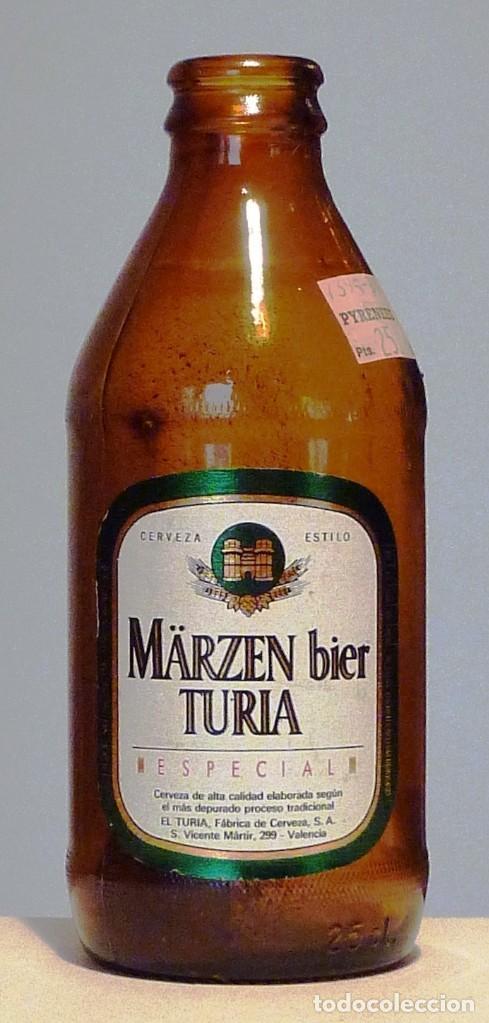 BOTELLA CERVEZA EL TURIA - MÄRZEN BIER TURIA ESPECIAL - VACÍA (Coleccionismo - Botellas y Bebidas - Cerveza )